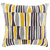 Arai Pattern Cushion, Yellow