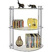 Maxwell - 3 Tier Glass Wall Storage / Display Shelves