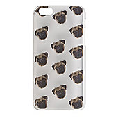 "Tortoiseâ""¢ Hard Protective Case,iPhone 5C.Clear with Pug Print."