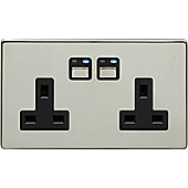 Megaman LightwaveRF 3000W 2 Gang 13A Socket (Chrome)