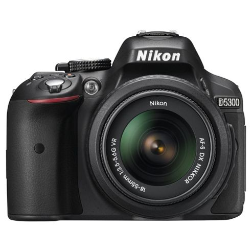 Nikon D5300 Digial SLR, Black, 24.2MP, 3.2