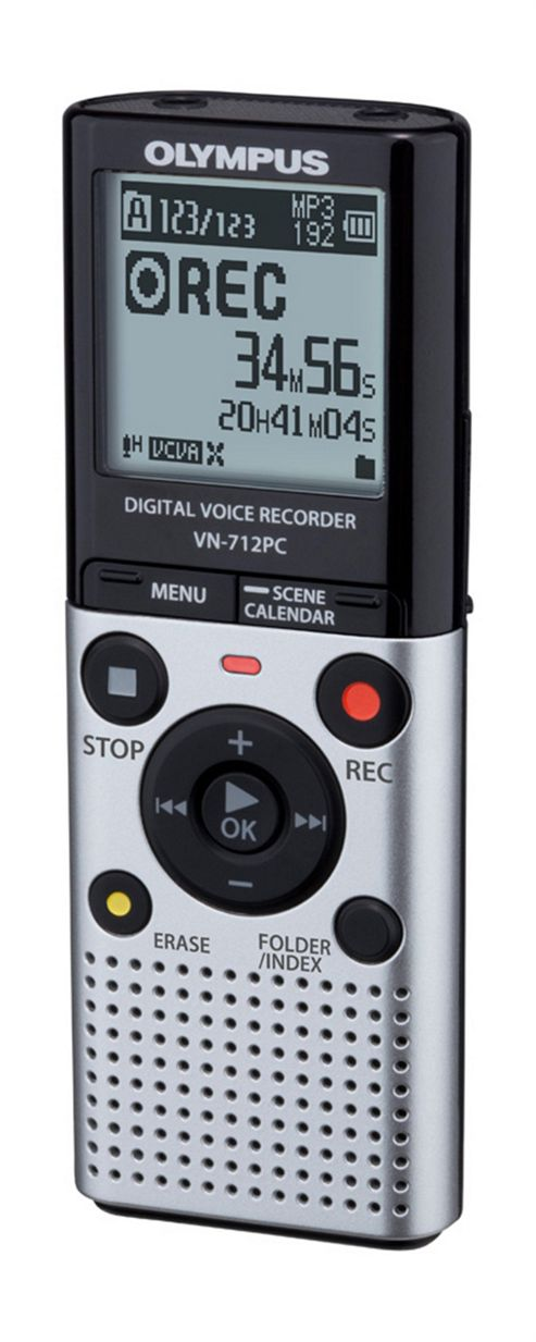 Olympus VN-712PC Voice Recorder 2GB Memory, WMA, MP3 Silver