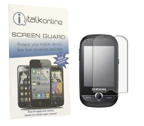 iTALKonline S-Protect LCD Screen Protector and Cleaning Cloth  -For Samsung B5310 Corby Pro