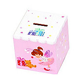 Kids Pink Fairy Money Box