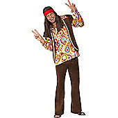 Discontinued - Psychedelic 1960's Hippy - Adult Costume Size: 38-40