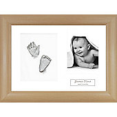 3D Baby Casting Kit - Beech effect Frame - Silver Paint
