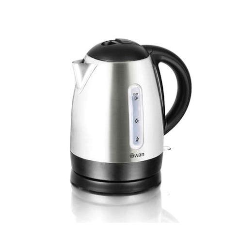 buy swan 1 7 litre cordless kettle brushed stainless steel. Black Bedroom Furniture Sets. Home Design Ideas
