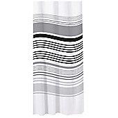 Sabichi Bathroom Essentials Stripe Shower Curtain - Black
