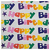 Tesco Happy Birthday Circles Wrapping Paper 2m