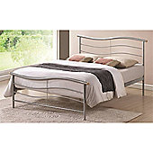 Silver Wave Style Metal Bed Frame - Single 3ft