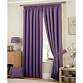 Curtina Hudson 3 Pencil Pleat Lined Curtains 46x90 inches (116x228cm) - Heather