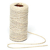 Natural Cotton String for Crafting and Making Bracelets and Necklaces (2mm x 100m)