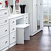 Welcome Furniture Pembroke Kneehole Dressing Table - White