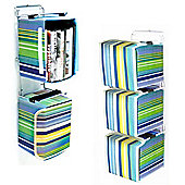 Wall Mounted Canvas Storage Boxes - 33 Cd / 20 Dvd Blu-ray