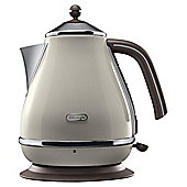 De'Longhi Vintage Icona Jug Kettle, 1.7L - Cream & Brown