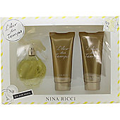 Nina Ricci L'air Du Temps Gift Set 100ml EDT + 100ml Body Lotion + 100ml Shower Gel For Women