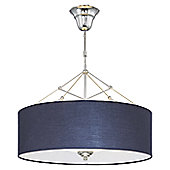 VLAVIC CooLight Semi Flush Ceiling Light in Black