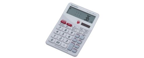Sharp EL-T100W Brain Trainer Calculator White