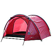 North Gear Camping Exodus Waterproof 4 Man Tunnel Tent Red