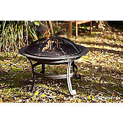 La Hacienda Sleek Steel Firepit