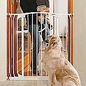 Bindaboo Extra Tall Extra Wide Hallway Pet Security Gate White