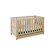 Tutti Bambini Milan Cot Bed (incl. drawer) - Reclaimed Oak Finish