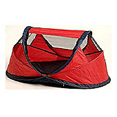 NSAuk Standard Pop Up Travel Cot Small Red 0-2 Years