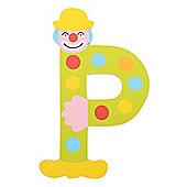 Tatiri Crazy Clown Letter P ((Green) Spots)