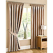 Swirl Ready Made Pencil Pleat Curtains - Fully Lined - 4 Colours Available - Brown