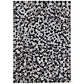 Angelo Rodeo Dark Gray Skin Rug - 300cm x 200cm (9 ft 10 in x 6 ft 6.5 in)