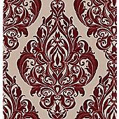 Graham & Brown LLB Kinky Vintage Wallpaper - Dark Red