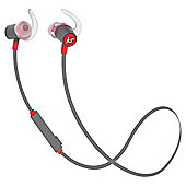 KitSound Outrun Water-Resistant Bluetooth Wireless Sports In-Ear Headphones - Red