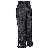 Salen Mens Printed Waterproof Breathable Snowboarding Skiing Ski Pants Trousers - Grey