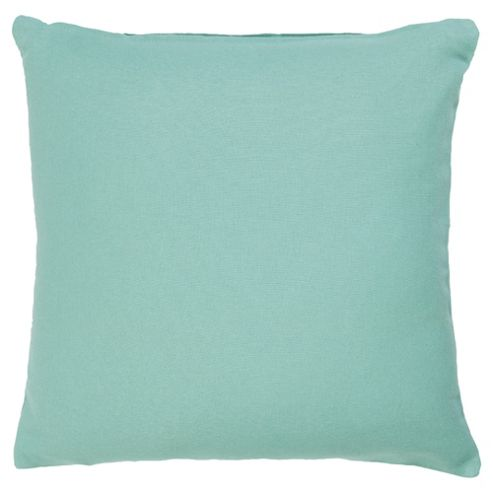 buy tesco value cotton cushion duck egg from our cushions. Black Bedroom Furniture Sets. Home Design Ideas