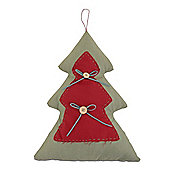 Large Handmade Festive Tree Shaped Fabric Decoration
