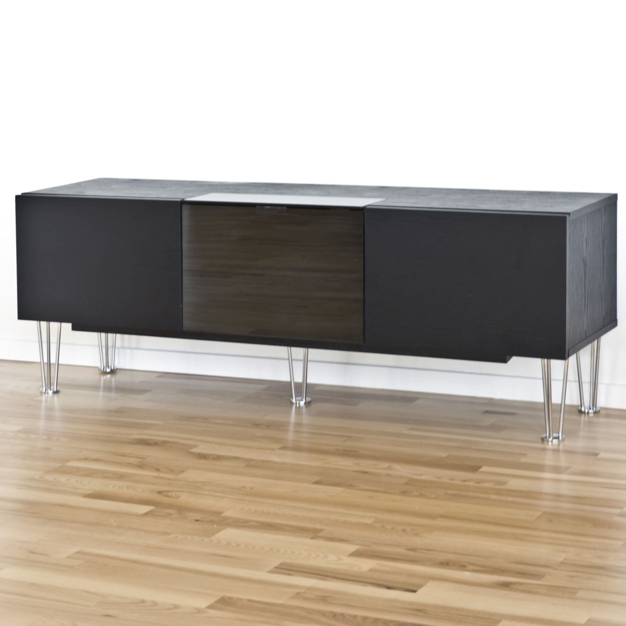 RGE Watt Multi-Media TV Storage and Display Unit - Foil Black Oak Structure at Tesco Direct