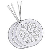 Silver Snowflake Luxury Christmas Gift Tags, 3 pack