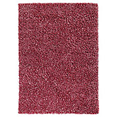 Husain International Plain Pink Woven Rug - 180cm x 120cm (5 ft 11 in x 3 ft 11 in)