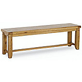 Kelburn Furniture Veneto Rustic Oak Small Bench