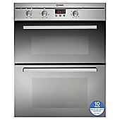 Indesit FIMU23IXS, Built-in Electric Cooker, 60cm, Stainless Steel, Twin Cavity, Double Oven