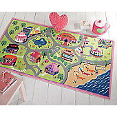 Girls World Mat 80 x 120 cm