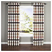 "Judy Stripe Eyelet Curtains W168xL137cm (66x54""), Natural"