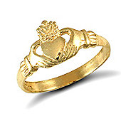 Jewelco London 9ct Solid Gold Claddagh design baby Ring