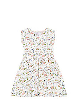 F&F Floral Print Dress - White