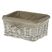 Wicker Valley Tobs Willow Storage Medium Basket in White