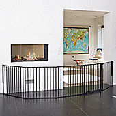BabyDan XXL Flex Hearth Gate Black