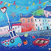 Artistic Britain Seaside Houses by Susie Grindey Wall Art