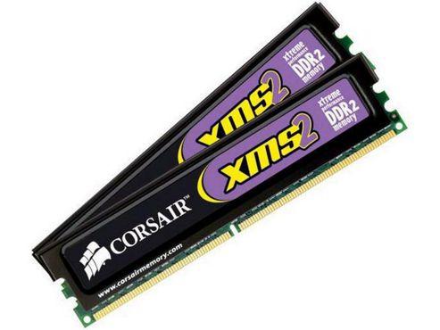 Corsair XMS2 2GB (2 x 1GB) Memory Kit PC2-6400 800MHz 240pin DDR2 DIMMs