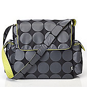 OiOi Grey Dot Messenger Changing Bag