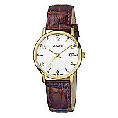 M-Watch Timeless Elegance Unisex Leather Date Watch A661.30545.41
